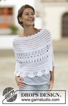 Bon Vivant Poncho By DROPS Design - Free Crochet Pattern - (ravelry) ༺✿ƬⱤღ  http://www.pinterest.com/teretegui/✿༻