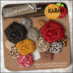 Glue & Scraps element pack - flowers by Karah Fredricks ... Digital Scrapbooking