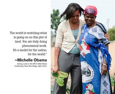 #FLOTUS doing good with @International Rescue Committee and #NewRoots @Michelle Obama