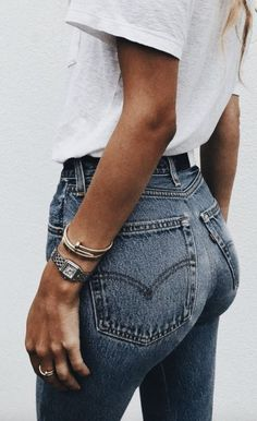 jeans and white t shirt, everyday outfit ideas #fashion and style