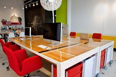 This is the best I could find from this agency's interior- reclaimed basketball floors http://www.originagency.com