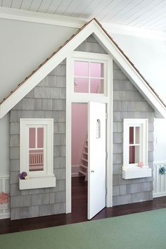 Another Cute Example Of A Little Playhouse Under The Stairs!