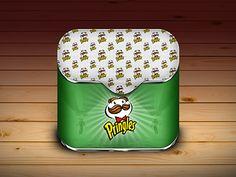 Pringles iOS icon design found on Dribbble.