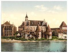 Zamek w Malborku od strony zachodniej, ok. 1900 r.
