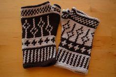 Free - Jacquard fingerless gloves (in Spanish)