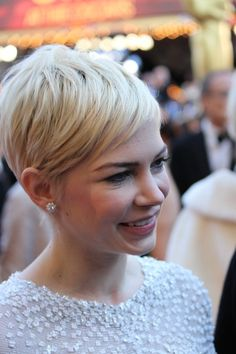 If you ever did short hair, you have to go all the way with short and platinum.