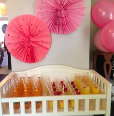 diy party, baby shower, baby gifts, diy baby shower, recipes for baby shower, recipes for theme party,  san francisco, chicago, washington dc, south florida, organizers, champagne, mimosas, orange pop, orange creamsicle, creamsicle recipe, pink baby shower, baby girl shower
