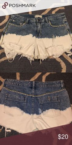 bde91895ce Free people tie dye shorts Great details lace like pocket details that hang  out of shorts