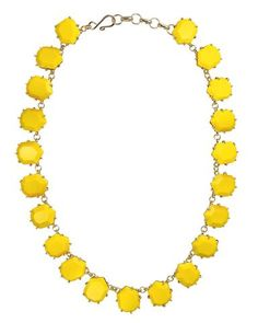 yellow necklace for a burst of sunshine summer colour