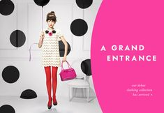 That Girl - Marlo Thomas - Retro Upscale, pretty, happy, clever Graphic Design Layouts, Web Layout, Ad Design, Graphic Design Inspiration, Grand Entrance, Business Inspiration, All About Fashion, Editorial Design, Typography Design