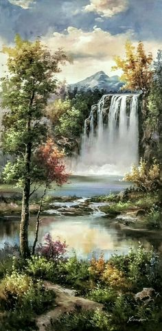 39 Ideas for fantasy landscape art simple Pictures To Paint, Nature Pictures, Nature Images, Beautiful Pictures, Cool Landscapes, Beautiful Landscapes, Beautiful Paintings Of Nature, Nature Paintings, Landscape Paintings