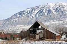OMG THIS IS STILL UP? Wow! Old barn in Orem, Utah. I used to go past this all the time as a kid.