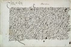 """Signed """"Jane the Quene"""", this letter was written from the Tower of London in July 1553, during the brief 'reign' of Lady Jane Grey. Jane's letter to the sheriff, justices of the peace and gentlemen of Surrey exhorts them to stand fast in their allegiance to her following the proclamation of her succession. Within days Jane's support crumbled and Mary was proclaimed Queen.  The letter is part of the correspondence of the More Molyneux family of Loseley House."""