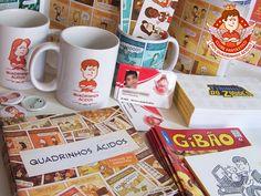 """Estas são algumas das recompensas do """"Clube Fantástico dos Quadrinhos Ácidos""""! http://www.quadrinhosacidos.com.br/2014/07/algumas-recompensas-do-clube.html"""