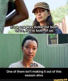 Rosita (Christian Serratos) has a plan for Sasha (Sonequa Martin-Green)  | The Walking Dead Season 7B Ep. 712 'Say Yes'