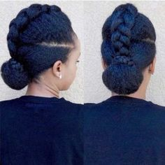Braid into a Bun Updo for Natural Hair natürliches Haar 21 Chic and Easy Updo Hairstyles for Natural Hair Black Kids Hairstyles, Easy Updo Hairstyles, Teen Hairstyles, African Hairstyles, Haircuts, Trending Hairstyles, Latest Hairstyles, Natural Hair Care, Natural Hair Styles