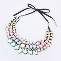 European and American Fashion Crystal Shourouk Necklace $8.98