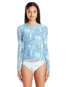 Billabong Women's Santorini Long Sleeve Rashguard, Mykonos, M Swimsuits For Big Bust, Swimsuits For Curves, Billabong Women, Rash Guard, Santorini, Long Sleeve, Sleeves, Tops, Fashion