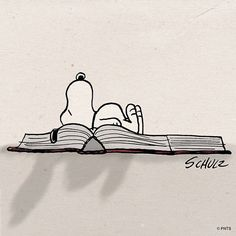 Bookworm Snoopy by Schulz Peanuts Gang, Peanuts Cartoon, Charlie Brown And Snoopy, Snoopy Love, Snoopy And Woodstock, Snoopy Wallpaper, Snoopy Quotes, I Love Books, Caricatures