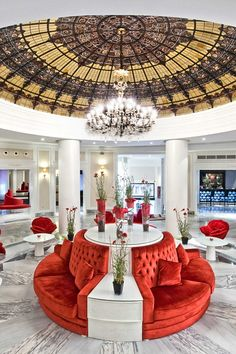 Beneath an ornate dome, Gran Meliá Colón's statement lobby features pieces by Philippe Starck. Gran Melia Colon (Seville, Spain) - Jetsetter
