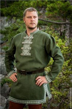Купить Рубаха ОРЕПЕЙ - тёмно-зелёный, русский стиль, русский сувенир, русская традиция