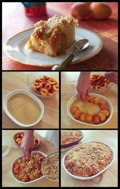 Placek aux abricots (recette polonaise) : images technique en photo pas à pas, DIY, gâteau aux abricots