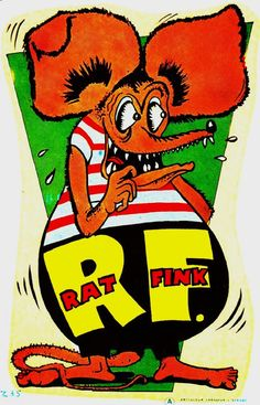 A not-quite Rat Fink decal from Australia, 1960s.
