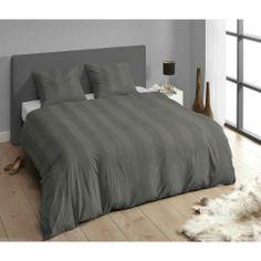 Descanso Pinstripe Grey Duvet Set - Casafina