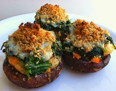 Spinach Stuffed Portobella Mushrooms Recipe | Healthy Dinner Recipes