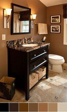 Modern Bathroom Colors Brown Color Shades Chic Bathroom Interior Design Ideas Wooden Vanity Cabinet Bathroom Ideas Pinterest Chic Bathrooms