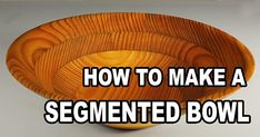Learn how to turn a SEGMENTED BOWL on your lathe - created from a single board. This single board approach to bowl making is a great project to introduce woodturners to segmented turning.