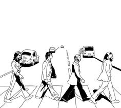 The Beatles, Abbey Road: Line Drawing