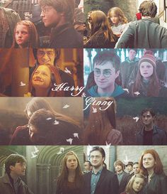 """There's the silver lining I've been looking for,"" she whispered, and then she was kissing him as she had never kissed him before, and Harry was kissing her back, and it was blissful oblivion, better than firewhisky; she was the only real thing in the world, Ginny, the feel of her, one hand at her back and one in her long, sweetsmelling hair —"