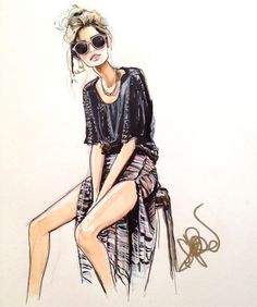 Glamorous Fashion Sketches and Illustrations: Best 50