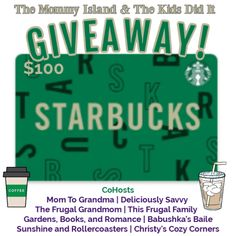 $100 Starbucks Gift Card Giveaway ~ Worldwide 08/31 Starbucks Gift Card, Frugal Family, Gift Card Giveaway, Pumpkin Spice Latte, You Are Invited, Kids Online, Refreshing Drinks, Ottawa, Back To School
