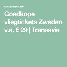 Goedkope vliegtickets Zweden v.a. € 29 | Transavia
