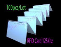 100 개/몫 RFID 125 키로헤르쯔 카드 EM4100 TK4100 RFID 카드 근접 스마트 카드 ID PVC 카드 액세스 제어 시간 출석