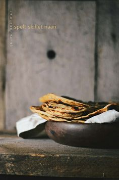 spelt skillet naan by abrowntable, via Flickr