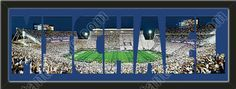 PERSONALIZE YOUR NAME with a framed large Penn State University stadium panoramic behind your name, single matted in team colors to 39 x 13.5 inches.  $139.99 @ ArtandMore.com