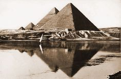 the pyramids during the Nile floods