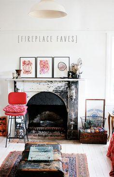 fireplace faves | La La Lovely