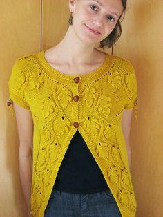 Ravelry: Oak leaves cardigan pattern by Amy Jansen