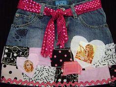 Taylor Swift Girls Skirt by DenimStreetFashion on Etsy, $29.99