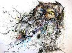 Jaw Dropping Splattered Ink Animal Portraits by Hua Tunan