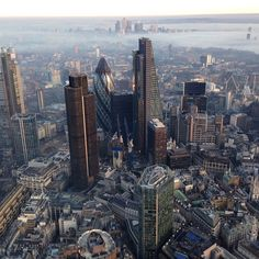 One from the #archive a #misty #moody #London from the #city looking #East #capital #helicopter #work #view #panorama #weather #scenic #instafollow #instalike #instagrammer #instagram #avgeek