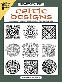 Ready To Use Celtic Designs 96 Different Royalty Free Printed One Side Dover Clip Art Mallory Pearce