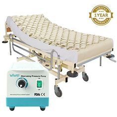 Alternating Pressure Mattress by Vive - Includes Electric Pump & Mattress Pad - Best Inflatable Bed Pad for Pressure Ulcer and Pressure Sore Treatment - Fits Standard Hospital Beds - 1 Year Warranty #bed sores #ulcer #prevention