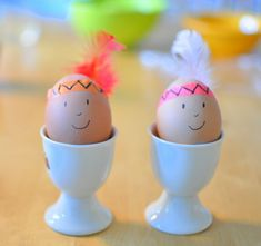 Indian chief eggs -- cute for Easter