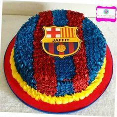 bolo do barcelona simples Bolo Do Barcelona, Barcelona Party, Bolo Real Madrid, Bolo Panda, Panda Cakes, Cupcake Cakes, Cake Decorating, Cupcake Decorations, Cake Kids