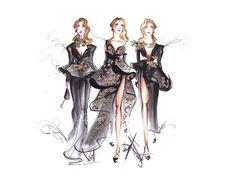 Fashion illustration, Fashion sketch, Fashion wall art, Black wall art, Fashion print, Illustration fashion, Fashion painting, Fashion art